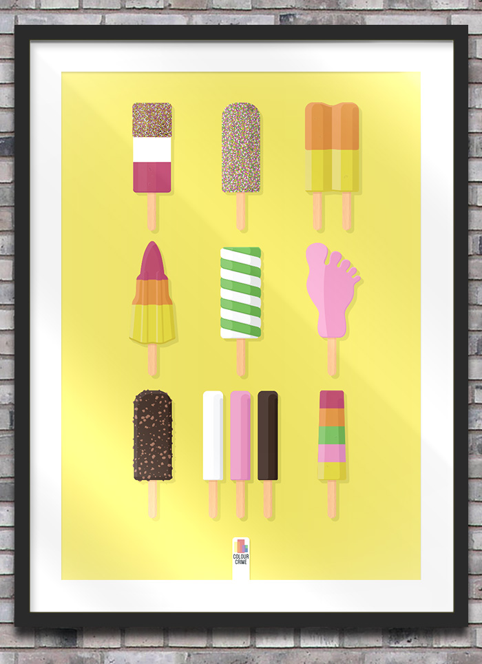 Ice Cream Poster Display